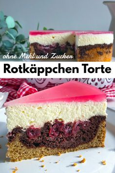 * Sugar-free Little Red Riding Hood Cake - Holla the cooking fairy Super Awesome Today& cake is a. Easy Cake Recipes, Healthy Dessert Recipes, Healthy Baking, No Bake Desserts, Best Vanilla Cake Recipe, Frozen Chocolate, Food Cakes, Baking Ingredients, Cheesecake Recipes