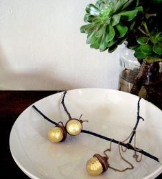 Gilded Acorn Charms