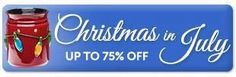 Get 75% off. Just click the link that says  Christmas in July.