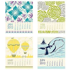 I love this letterpress calendar.