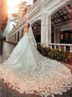 Fabulous Train on this Wedding Dress
