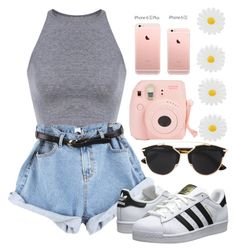 """""""Just a normal day in the summer☀️"""" by omghakunamatata ❤ liked on Polyvore featuring adidas Originals, Christian Dior and Accessorize"""
