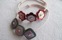 Un joli bracelet à fabriquer avec des boutons !