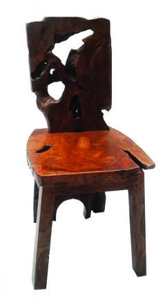 Rustic Teak Root Wood Chair