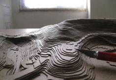 Chipboard Topographic Model