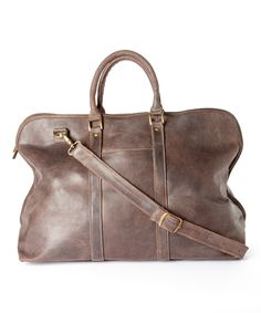 Love this Le Donne Chocolate Distressed Leather Getaway Duffel Bag by Le Donne on #zulily! #zulilyfinds