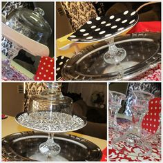 Lots of EASY cake stands courtesy of @SassySites AndCrafts #Cake Stands #Easy #DIY #Sassy Sites