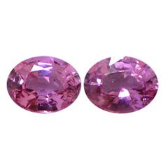 0.92 ct Pair of Oval Pink Sapphires Intense Pink -Gold Crane & Co.