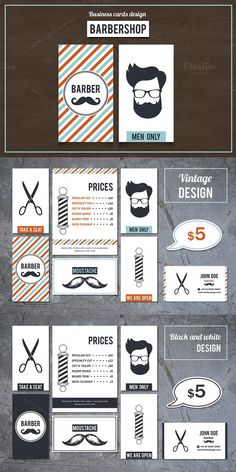220 best barber business cards images on pinterest barber business barber shop business cards set 2 colourmoves