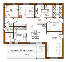 125 m² Winkelbungalow mit Terrassenüberdachung