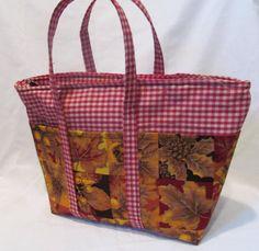 Autumn Themed Small Zippered Tote. $30.00, via Etsy.
