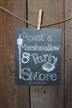 S'More Chalkboard 8x10 Digital Download Print - S'More Bar - Fall Chalkboard Art…