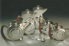 Silver Art Deco Tea & Coffee service (1934-39)   H.G.Murphy