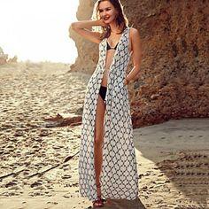 fba3ad3a50732 #coverups #australiaswimwear Hot Selling Women's Summer Sexy Sarongs Plaid  Pattern Beach Top Sleeveless Chiffon