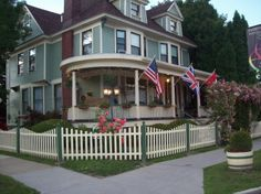 This Mid-Victorian home is conveniently located in the town of Watkins Glen.