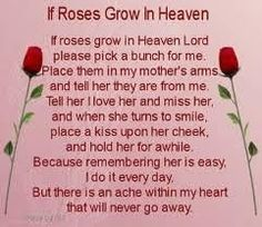I love and miss you Mom. HaPpy Mother's Day in heaven!
