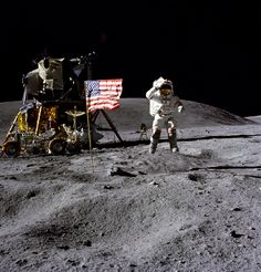 NASA and Navy Veteran John Young NASA salutes our country's veterans this Veteran's Day. In this image, John Young, astronaut and Navy veteran, salutes the U. flag at the Descartes landing site during the first Apollo 16 extravehicular activity Nasa Missions, Moon Missions, Apollo Missions, Michael Collins, John Young, Programme Apollo, Centre Spatial, Gemini, Apollo 11 Moon Landing