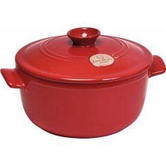 Emile Henry Round Soup Pot Size: 2.6-qt., Color: Burgundy