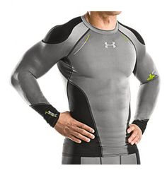 Futuristic Clothing For Men about workout clothes and the underarmor clothes look futuristic Workout Gear For Men, Gym Gear, Workout Attire, Workout Wear, Workout Clothes For Men, Athletic Outfits, Athletic Wear, Sport Outfits, Sport Fashion