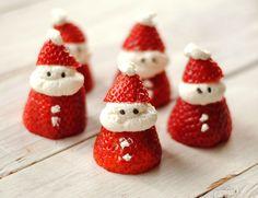 Little Strawberry and cream Santa Claus !