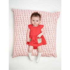 cutest baby dress and bloomer by little fashion gallery with contrast pockets