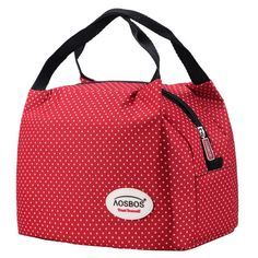 Canvas Thermal Lunch bag //Price: $12 & FREE Shipping //     #shopping #design #beauty