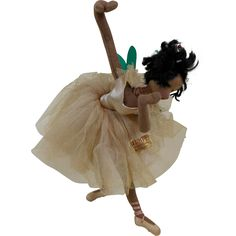 1960s Klumpe African American Black Fairy Ballerina Dancer Doll in from funcity on Ruby Lane