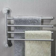 Aluminum Storage Organizer Bath 4 Bars Flexible Towel Holder Rack Co Uk