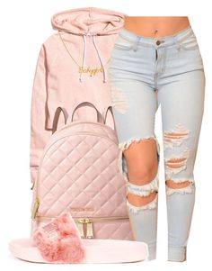 """""""May~Monte Booker"""" by maiyaxbabyyy ❤ liked on Polyvore featuring H&M, MICHAEL Michael Kors and Puma"""