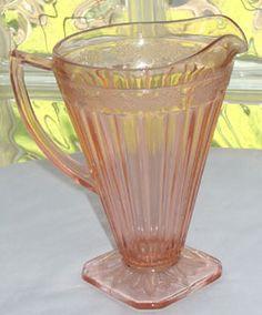 Depression Glass Adam Pattern #Vintage Pitcher