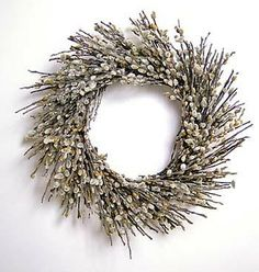 "18"" Pussy Willow Wreath"