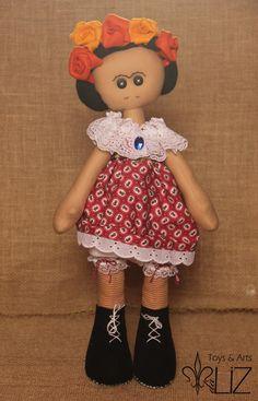 Boneca Estilo Russa Frida Kahlo | Toys & Arts daLiz | Elo7