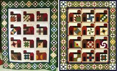 """I swapped the 6 inch """"barn quilts"""" in an online quilt guild. The actual barns are my design. I made it to be paper pieced, which is odd because I HATE paper piecing."""