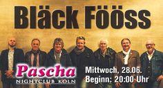 Bläck Fööss im Pascha Nightclub Köln am Juni 2017 Ticket, Nightclub