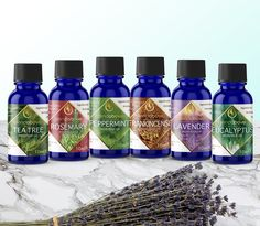 Essential oil set label design