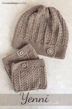 Ravelry: Yenni Boot Cuffs pattern by Little Monkeys Crochet