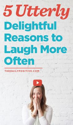 We all know laughing feels good, but science shows its physically and mentally good for you too! Don't believe me? Then read this!