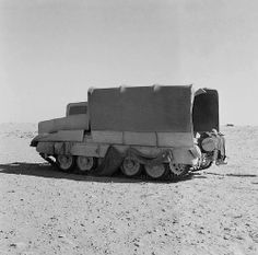 One of the most successful examples of the use of deception tactics in the Western Desert was the use of dummies before the Second Battle of El Alamein. Tanks disguised as trucks were massed in the north while trucks disguised as tanks massed in the south, duping the Germans into committing most of their defensive forces to opposing the dummy tanks while the real tanks attacked in the north. North Africa. 26th of October 1942.