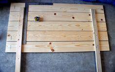 DIY headboard for tween bed