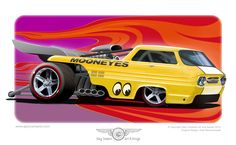 A rendering of one of my friends custom built Hot Wheels cars.