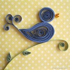 Paper Quilled Thank You Card Blue Bird by QuillyNilly on Etsy by lina