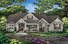 Check out the front rendering of The Fletcher house plan 1430. Now in progress! 2510 sq ft, 4 beds, 3.5 baths. #WeDesignDreams #DonGardnerArchitects