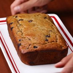 Blueberry Banana Bread is a healthy bread and also delicious, i'm sure you don't want to miss this. A breakfast meal is set with Blueberry Banana Bread you could serve with tea or coffee. Healthy Blueberry Bread, Blueberry Bread Recipe, Healthy Bread Recipes, Healthy Cake, Healthy Sweets, Healthy Baking, Recipes With Bananas Healthy, Best Healthy Banana Bread Recipe, Healthy Breads