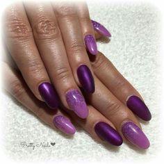 Lilla polvere glitter e viola opaco