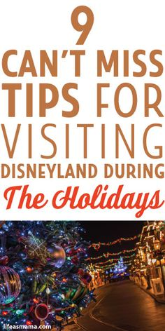 9 Can't Miss Tips For Visiting Disneyland During The Holidays 9 Can't Miss Tips For Visiting Disneyland During The Holidays The post 9 Can't Miss Tips For Visiting Disneyland During The Holidays appeared first on Paris Disneyland Pictures. Disneyland 2017, Disneyland Christmas, Disneyland Secrets, Disneyland California, Christmas Travel, Disney California Adventure, Disneyland Resort, Disneyland Hacks, California Attractions