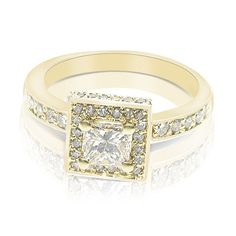 '1.90CT Princess Cut Diamond Engagement Ring' is going up for auction at 12pm Thu, Oct 18 with a starting bid of $2500.