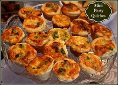 Sweet Tea and Cornbread: Mini Party Quiches!