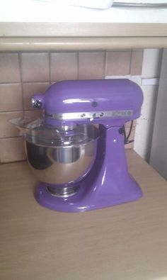 My beautiful purple Kitchen Aid! =D