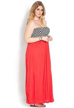 Cool Girl Chevron Maxi Dress | FOREVER 21 - 2000107566