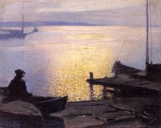 The Athenaeum - Along the Mystic River (Edward Potthast - )